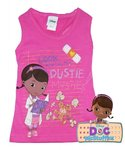 Disney Doc McStuffins Tank Top T-Shirt Rosa