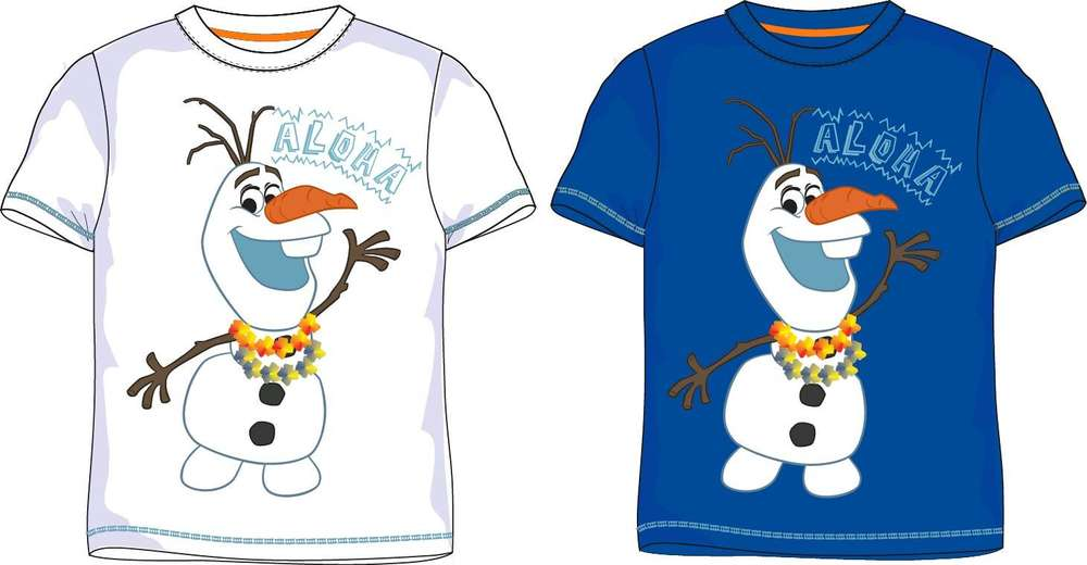 Elsa Anna Olaf Frozen Eiskönigin Disney Mädchen Bluse T-Shirt Kurzarmshirt Shirt